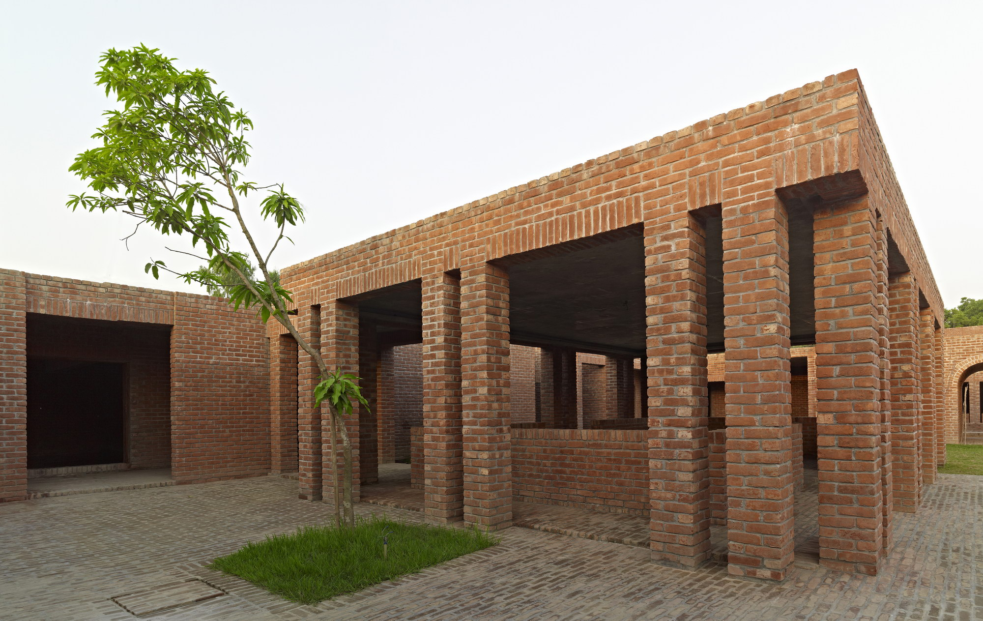 The Design Relies On Natural Ventilation And Cooling, Being Facilitated By  Courtyards And Pools And The Earth Covering On Roofs   Friendship Centre,  ...